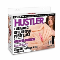 Hustler Vibrating Spread Open Pussy and Ass Sasha Grey